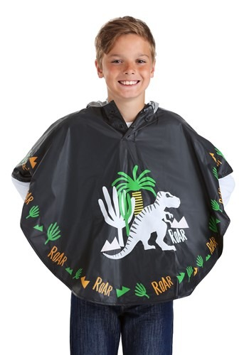 Color Changing Kids Dinosaur Poncho