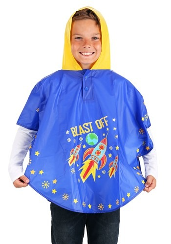 Space/Rocket Color Changing Poncho 1
