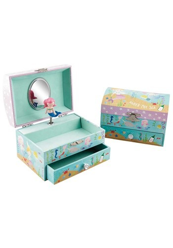 Mermaid 1 Drawer Jewellery Box (Music- Beautiful D