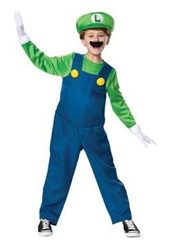Super Mario Brothers Luigi Boys Deluxe Costume