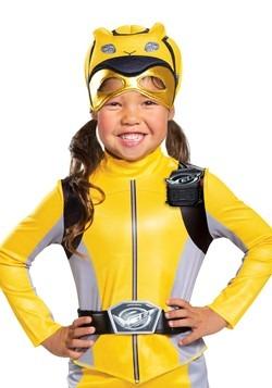 Girls Yellow Power Ranger Beast Morphers Costume3