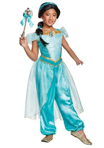 Aladdin Animated Deluxe Jasmine Girls Costume