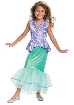 Little Mermaid Girls Ariel Classic Costume