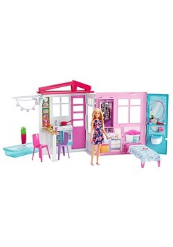 Barbie House and Doll Set