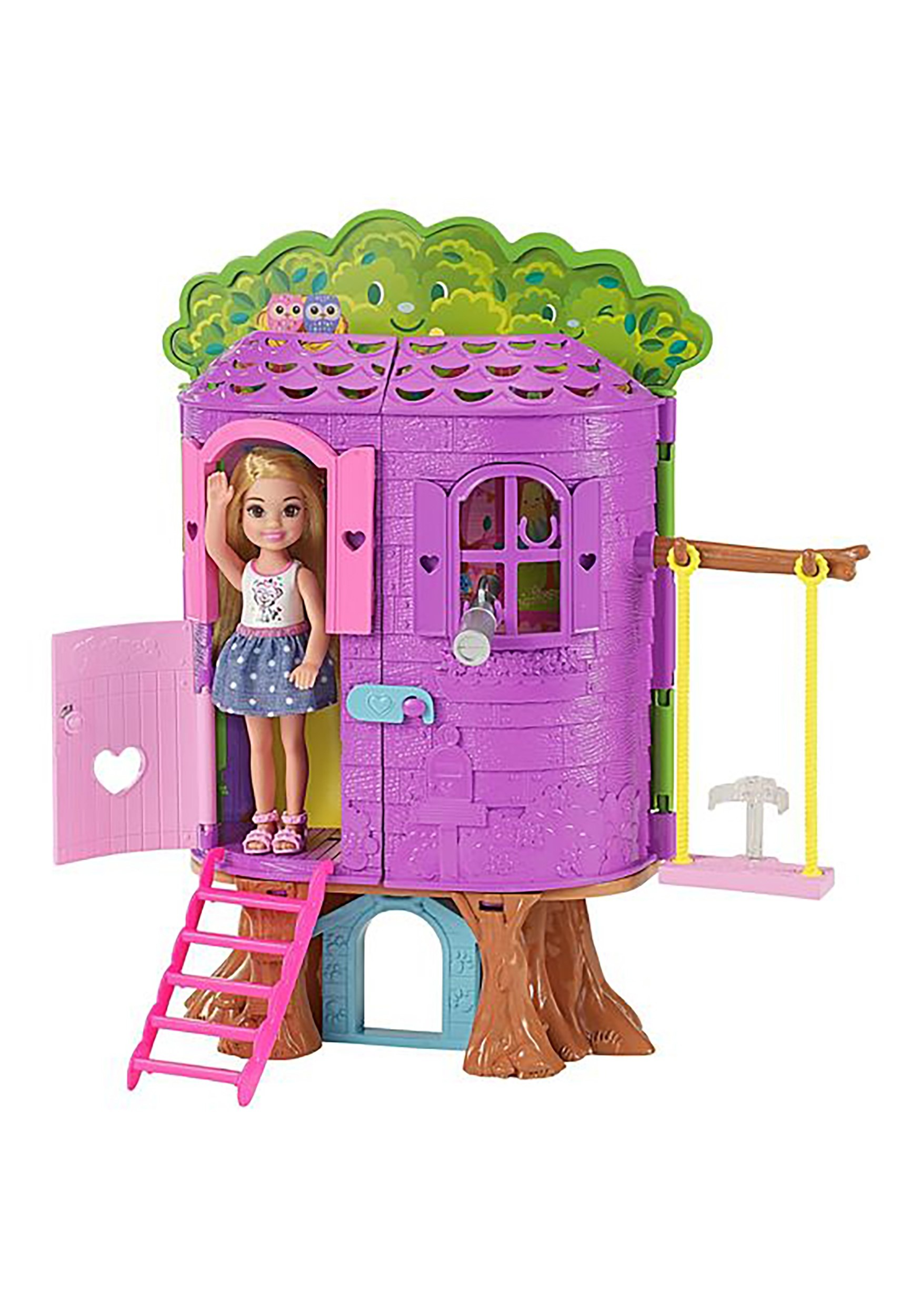 Barbie Club Chelsea Doll Treehouse Play Set