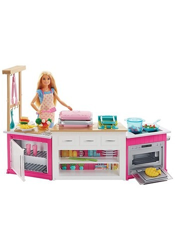 Barbie Doll Ultimate Kitchen Play Set