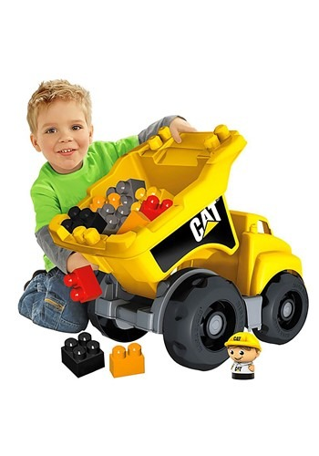 Mega Bloks CAT Large Vehicle Dump Truck from Mattel