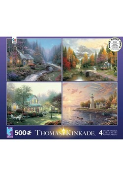 Thomas Kinkade 500 pc 4 in 1 Multipack Landscape P