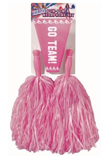 Pom Pom and Megaphone Set Pink