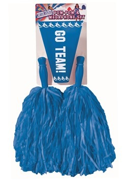 Pom Pom and Megaphone Set Blue