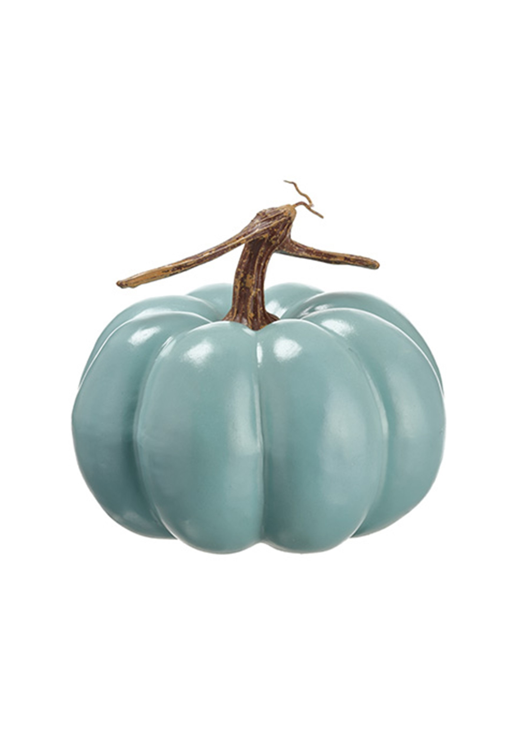 Teal Trick or Treat Halloween Pumpkin Decoration