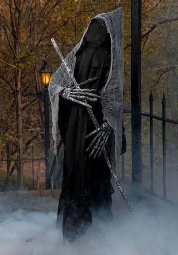 6 Ft Reaper with Staff Halloween Prop