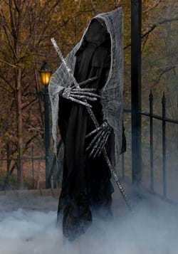 6 Ft Reaper with Staff Halloween Prop