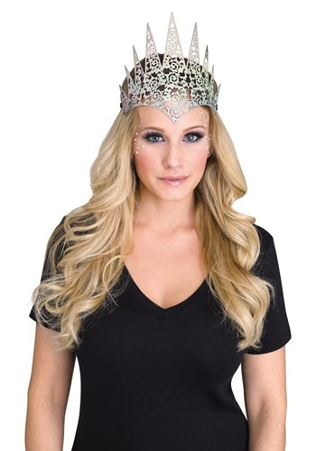 Flexible Glitter Crown Silver