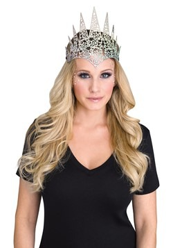 Flexible Glitter Crown Silver