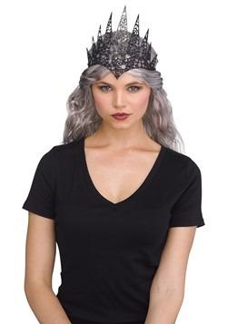 Flexible Glitter Crown Black