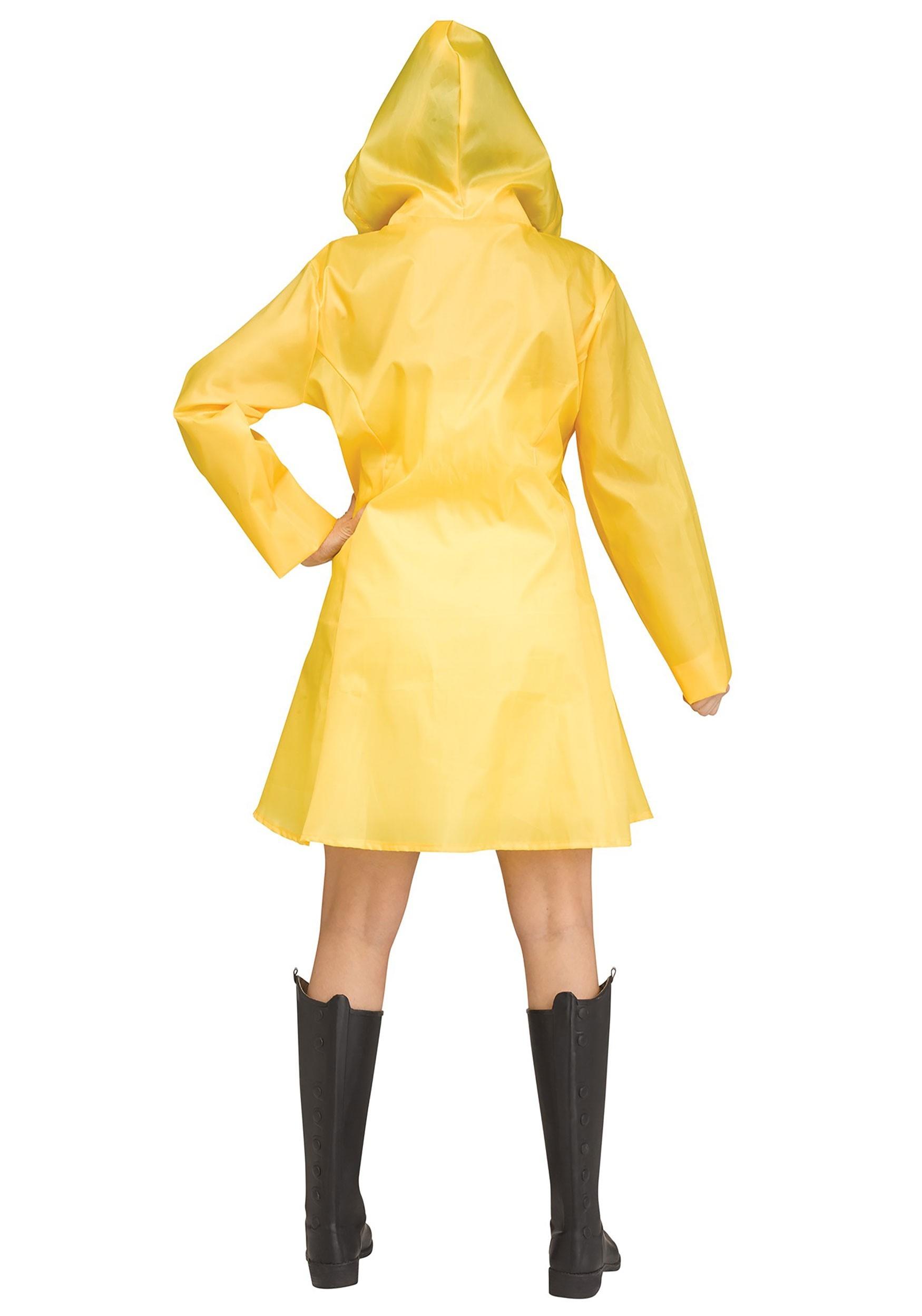 Yellow Raincoat Costume For Women