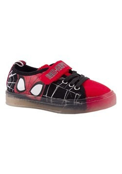 Spiderman Kids Canvas Lighted Shoe