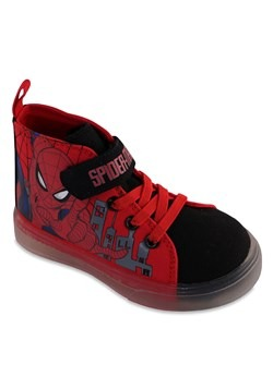 Spiderman Hightop Lighted Kids Shoe