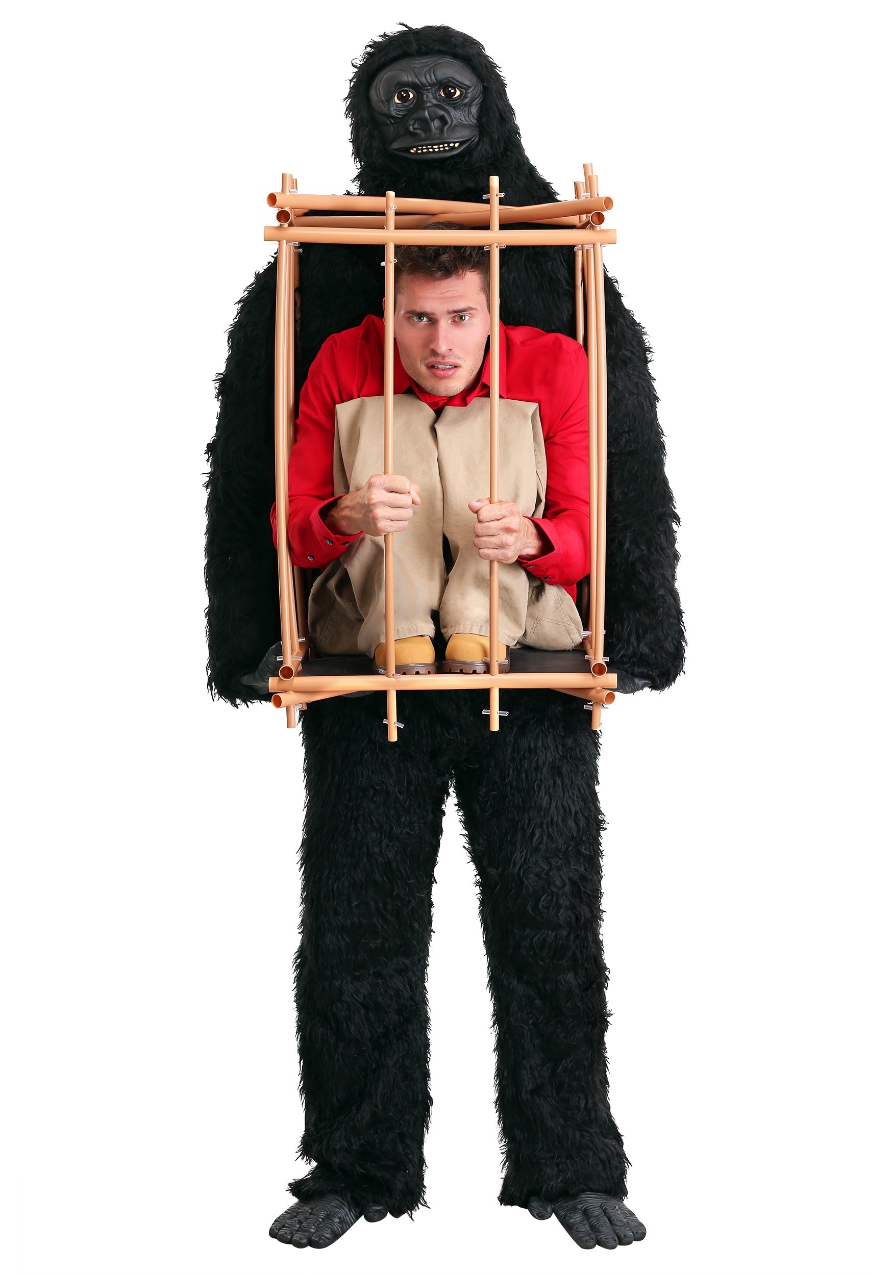 Man in a Gorilla Cage Costume for Adults