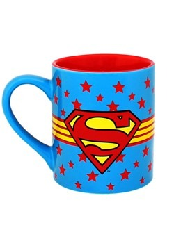 Superman Logo Wrap Around w/ Stars 14oz Ceramic Mu