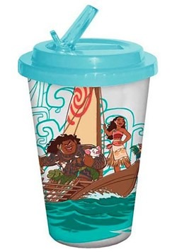 Moana 16oz Plastic Flip Straw Cold Cup