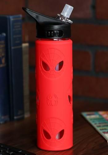 Spider-Man 20oz Silicone Sleeve Glass Water Bottle-1