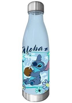 Lilo & Stitch Aloha 600ml Plastic Curved Water Bottle