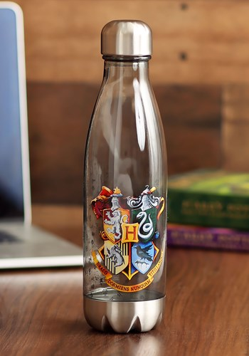 Harry Potter Crests 600ml Plastic Curved Water Bottle update