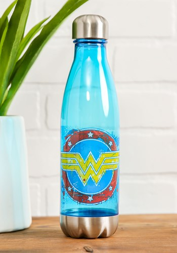Wonder Woman 600ml Plastic Curved Water Bottle upd