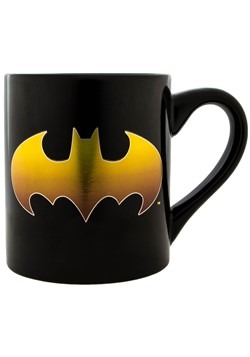 Batman Gold Bat Logo 14oz Laser Print Ceramic Mug