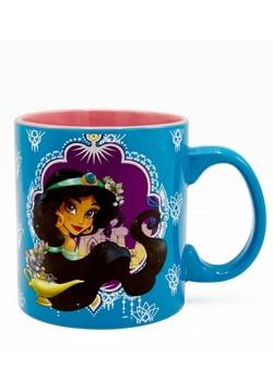 Disney Aladdin Jasmine 20oz Ceramic Jumbo Glitter