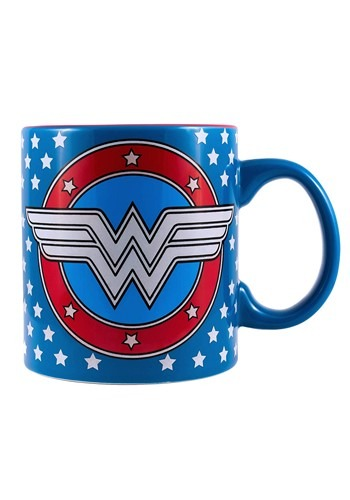 Wonder Woman Stars & Logo Glow in the Dark 20oz Jumbo Mug