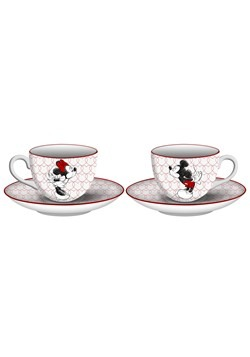 Mickey & Minnie Sketch Kiss Tea Set