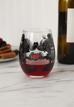 Mickey & Minnie Glitter 20oz Stemless Wine Glass