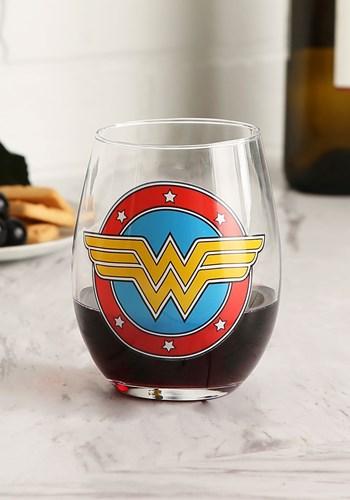 Wonder Woman Logo 20oz Stemless Wine Glass Update