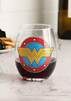 Wonder Woman Logo 20oz Stemless Wine Glass