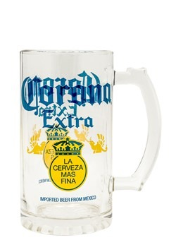 Corona Lable 16oz Glass Stein