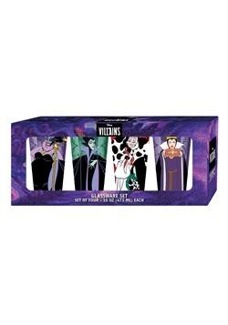 Disney Villains 4pc 16oz Colored Pint Glass Set