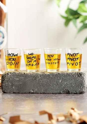 Friends Quotes 4pc Shot Glass Set upd