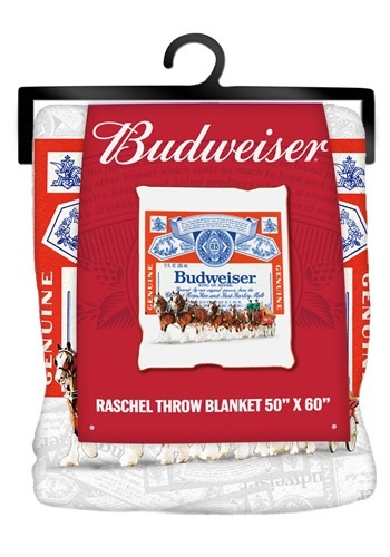 Budweiser Clydesdale Micro Plush 50x60in Throw Blanket