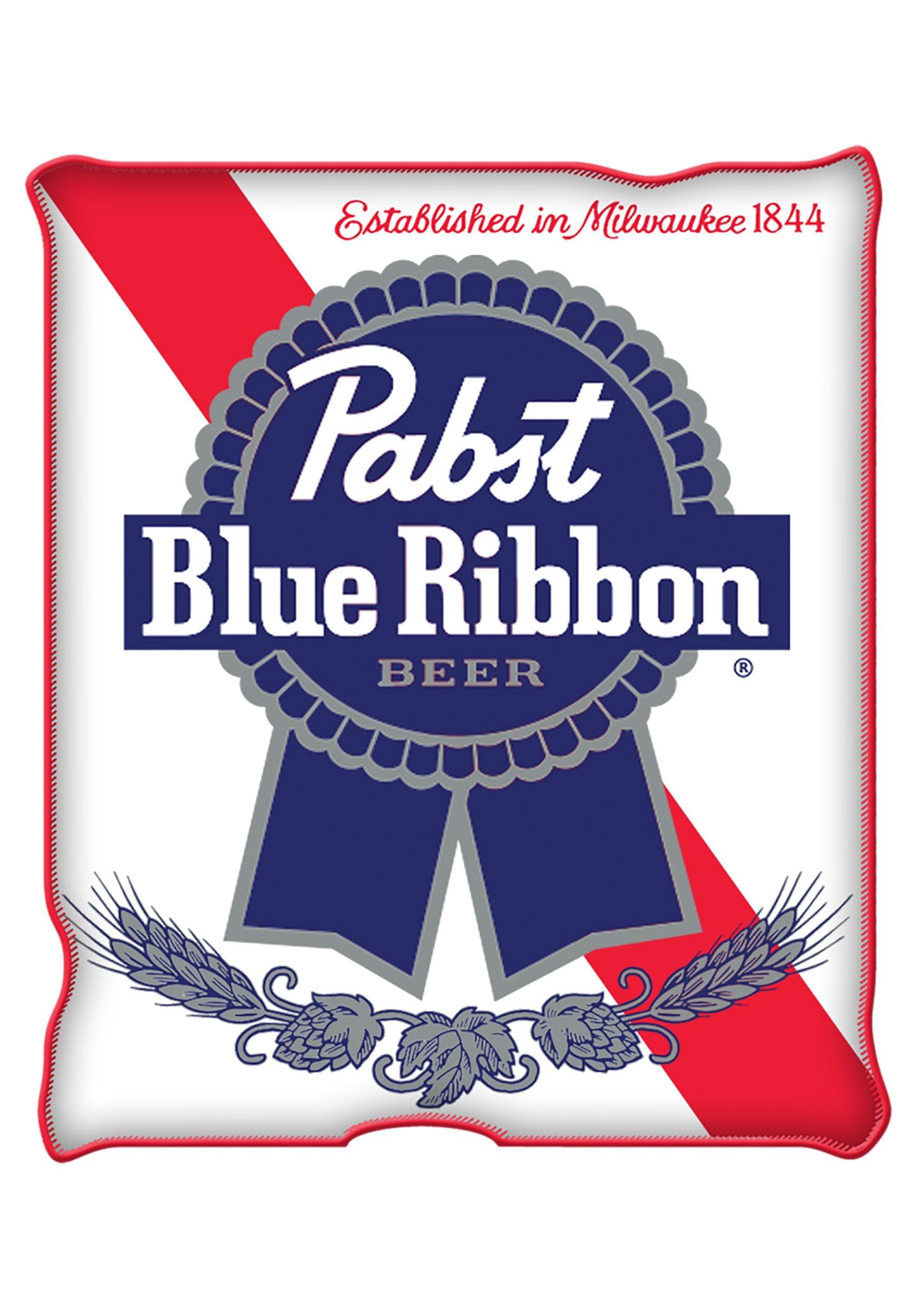 Pabst Blue Ribbon Raschel Throw Blanket 45x60
