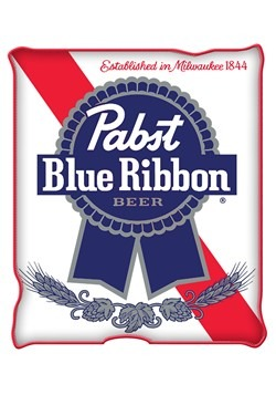 "Pabst Blue Ribbon Raschel Throw 45x60"" Blanket"