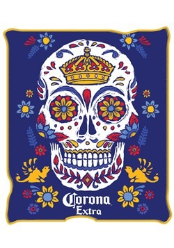 "Corona Sugar Skull 45x60"" Throw Blanket"
