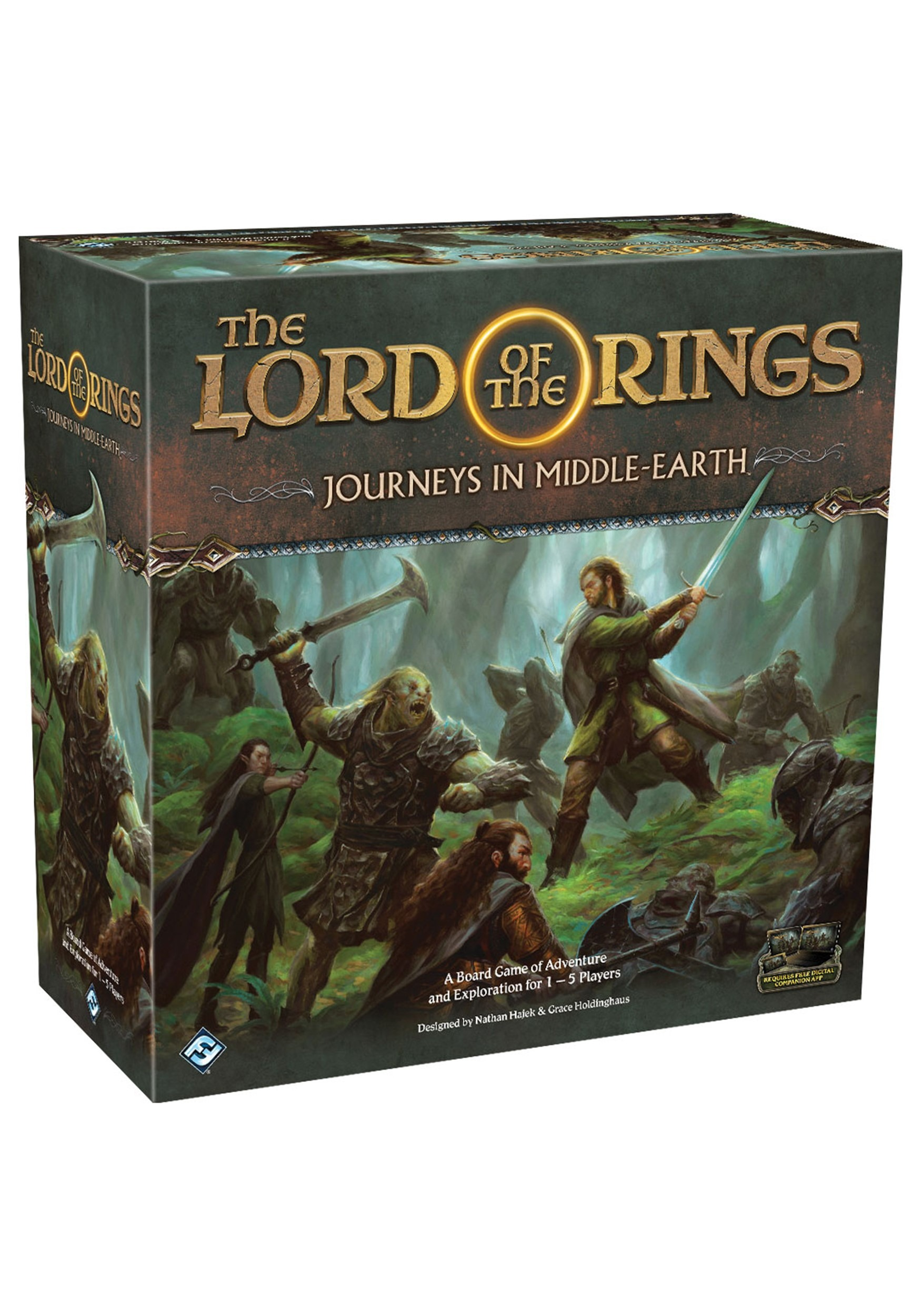 The Lord of the Rings: Journeys in Middle-Earth Board Game 1-5 Players
