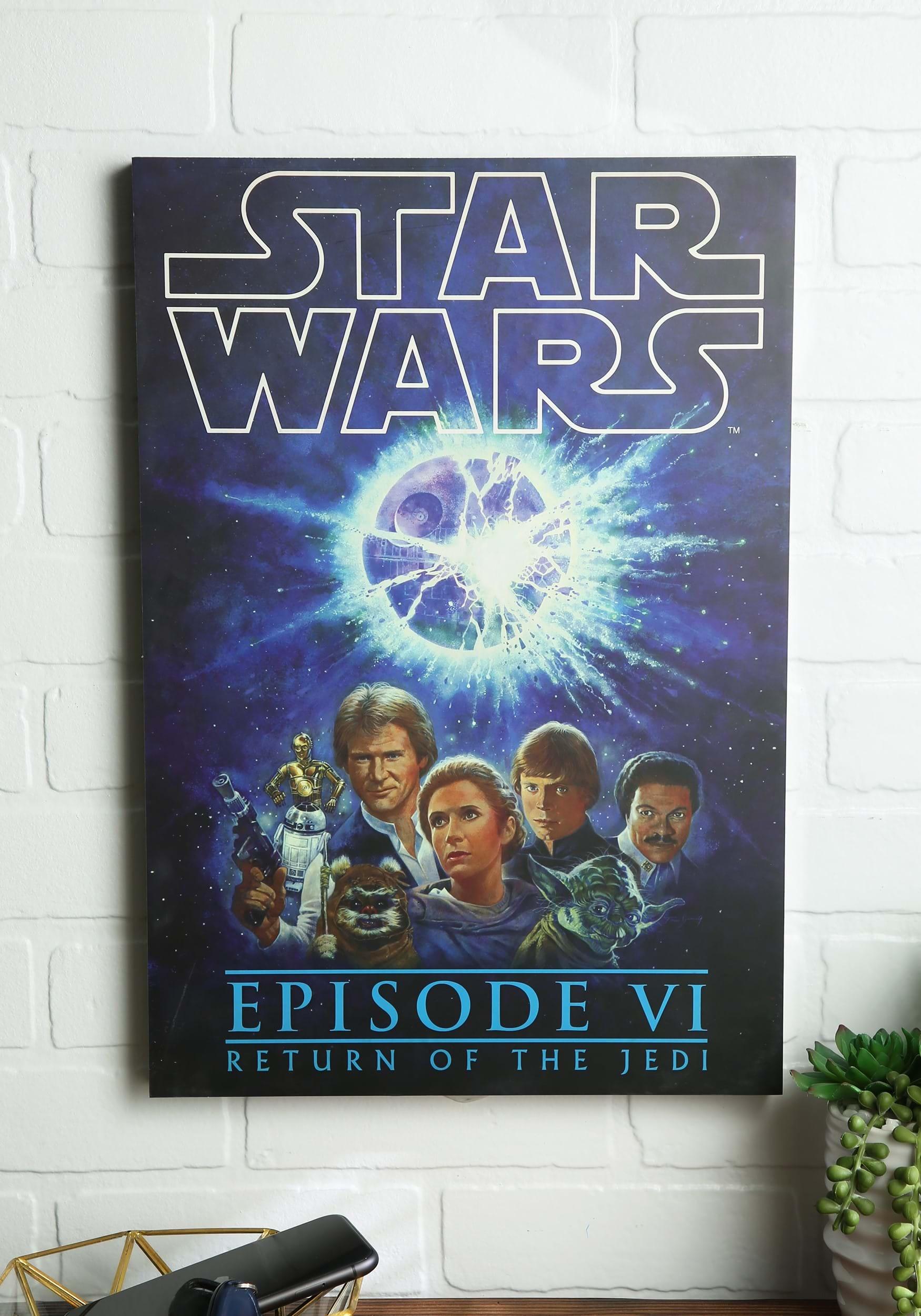 13 Quot X 19 Quot Star Wars Return Of The Jedi Box Art Wall Decor
