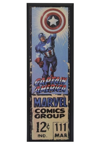 "Marvel Captain America 8"" x 27"" Framed Print Wall Art"