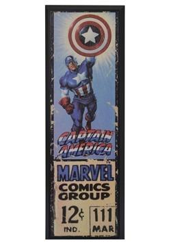 """Marvel Captain America 8"""" x 27"""" Framed Print Wall Art"""
