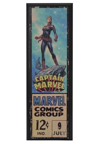 """Marvel Captain Marvel 8"""" x 27"""" Framed Print Wall Art"""