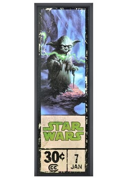 "Star Wars Yoda 8"" x 27"" Framed Print Wall Art"
